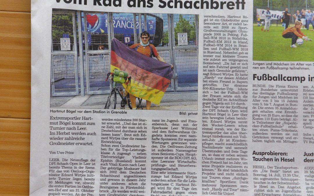 Interessante Anmeldung aus Süddeutschland